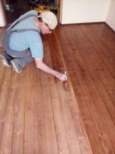 Тонировка деревянного пола